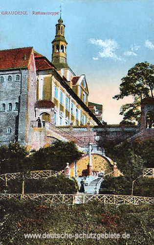 Graudenz, Rathaustreppe