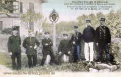 Grenze Frankreich Deutschland Französische und deutsche Grenzbeamte in Igney-Avricourt