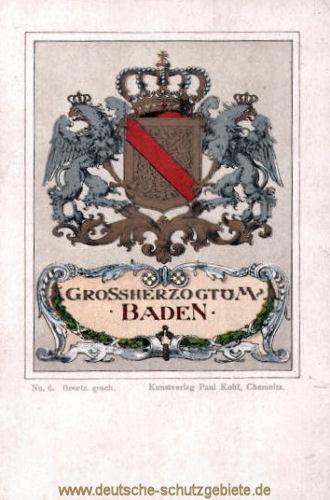 Großherzogtum Baden, Wappen