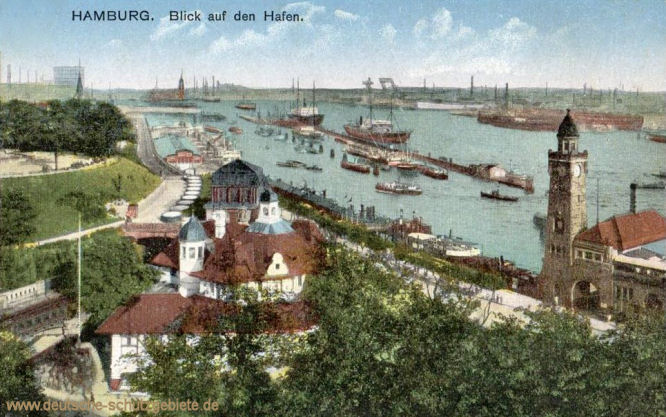Hamburg, Blick auf den Hafen