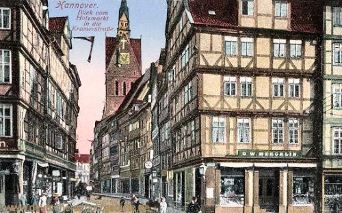 Hannover, Blick vom Holzmarkt in die Kramerstraße