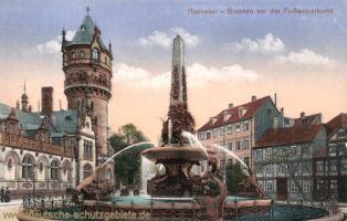 Hannover, Brunnen vor der Flusswasserkunst