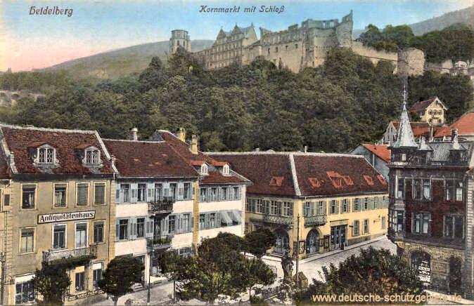 Heidelberg, Kornmarkt mit Schloss