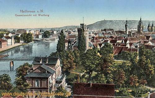 Heilbronn a. N., Gesamtansicht mit Wartberg