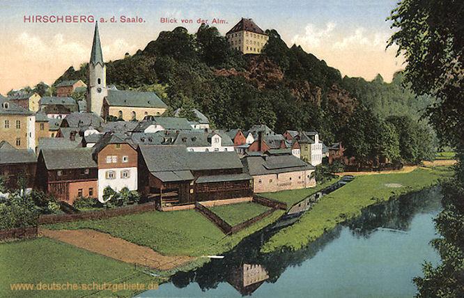 Hirschberg a. d. Saale, Blick von der Alm