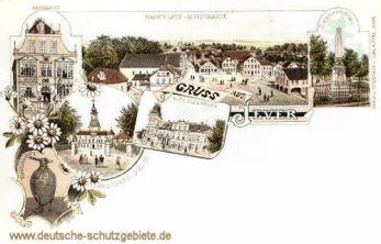 Jever, Marktplatz, Neustraße, Schloss, Rathaus