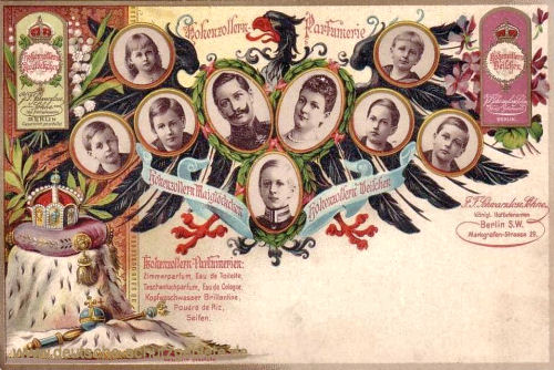 Kaiser Wilhelm II. mit Familie