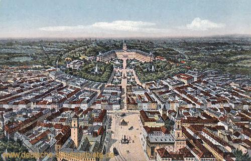 Karlsruhe i. B., Ansicht mit Schloß