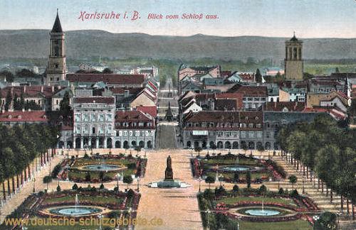 Karlsruhe i. B., Blick vom Schloß aus