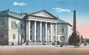 Karlsruhe i. B., Markgräfliches Palais und Obolisk