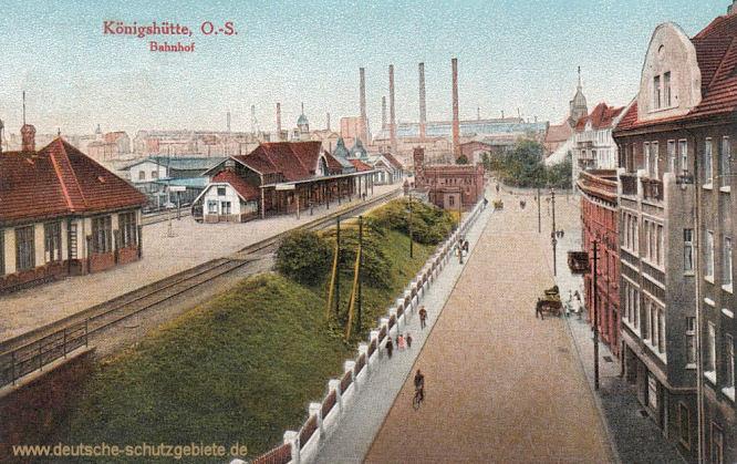 Königshütte O.-S., Bahnhof