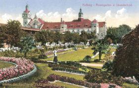 Kolberg, Rosengarten und Strandschloss