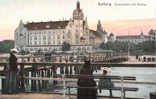 Kolberg, Strandschloss mit Seesteg
