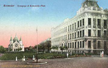 Kremsier, Synagoge & Komensky-Platz
