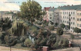 Landsberg a. W., Cladowbrücke mit Bismarckstraße