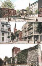 Landsberg a. W., Moltkeplatz, Friedebergerstraße, Alte Stadtmauer