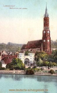 Landshut, Martinskirche mit Ländtor