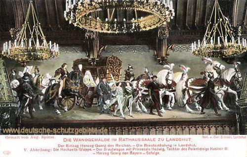 Landshut, Der Einzug Herzog Georg des Reichen