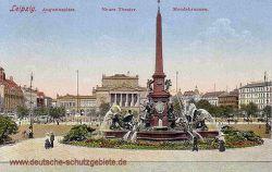 Leipzig, Augustusplatz, Neues Theater, Mendebrunnen
