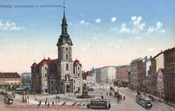 Leipzig, Johannisplatz mit Johanniskirche