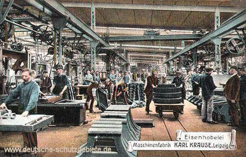 Eisenhobelei Maschinenfabrik Karl Krause Leipzig