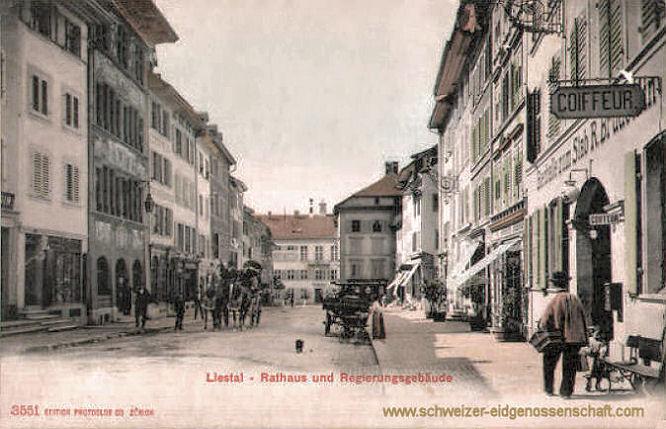 Liestal, Rathaus und Regierungsgebäude