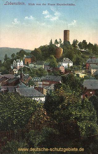 Lobenstein, Blick von der Franz Heynischhöhe