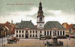 Mannheim, Marktplatz mit Rathaus