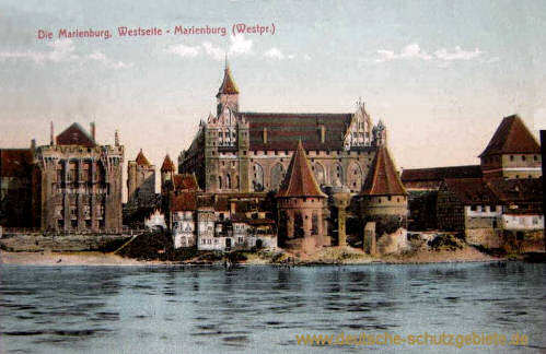 Marienburg (Westpr.), Westseite Marienburg