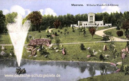 Meerane i. S., Wilhelm-Wunderlich-Ehrung
