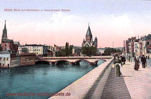 Metz, Garnisons- und neue protestantische Kirche