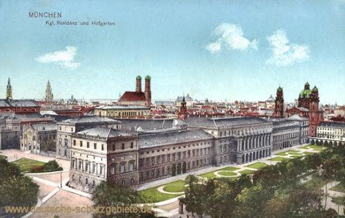 München, Kgl. Residenz und Hofgarten