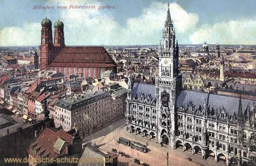 München vom Petersturm gesehen