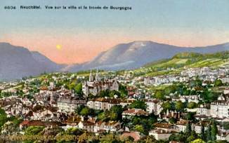 Neuchâtel, Vue sur la ville et la trouée de Bourgogne