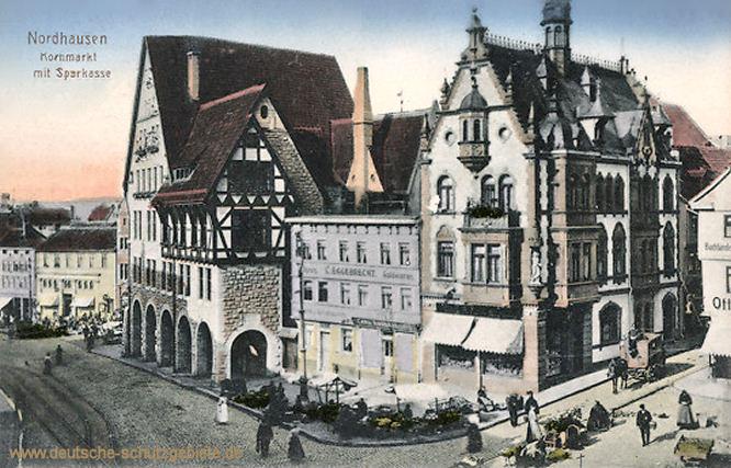 Nordhausen, Kornmarkt mit Sparkasse
