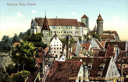 Nürnberg, Burg Südseite