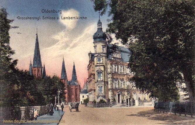 Oldenburg i. Gr., Großherzogliches Schloss und Lambertikirche