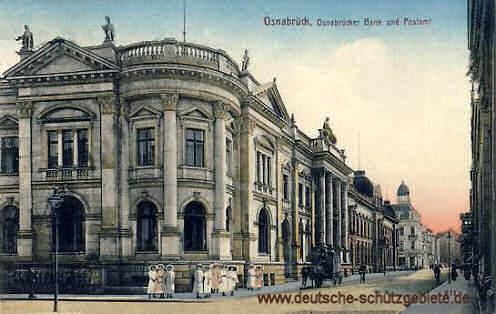 Osnabrück, Osnabrücker Bank und Postamt