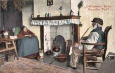"""Ostfriesische Küche, Ostfriesen beim """"Koppke Tee"""""""