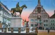 Plauen, Altes Rathaus mit König Albert-Denkmal
