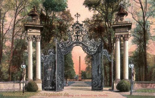 Potsdam, Eingang von Sanssouci am Obelisk