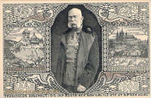 Prag, 60. jähriges Thronjubiläum Kaiser Franz Josephs 1908