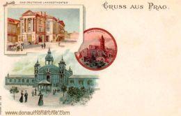 Prag, Deutsches Landestheater und Industriepalast
