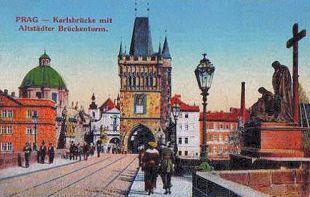 Prag, Karlsbrücke mit Altstädter Brückenturm