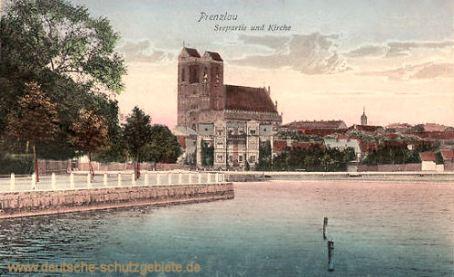 Prenzlau, Seepartie und Kirche