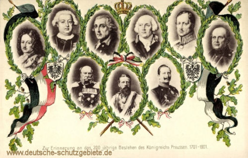 Zur Erinnerung an das 200jährige Bestehen des Königreiches Preußen 1701-1901