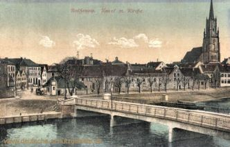 Rathenow, Havel mit Kirche
