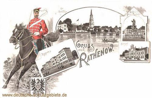 Rathenow, Kaserne, Bahnhof, Havelthor