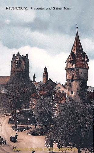 Ravensburg, Frauentor und Grüner Turm