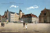 Regensburg, Moltkeplatz mit Karmelitenkirche und Institut Niedermünster